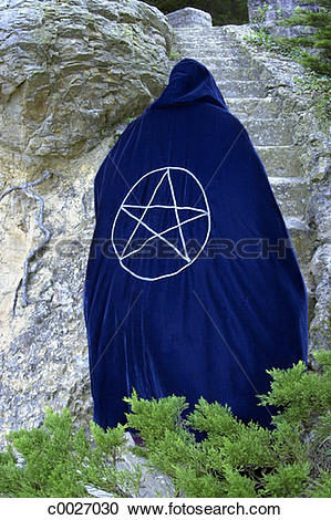 Stock Photography of robe, portrait, religion, occult, stairs.