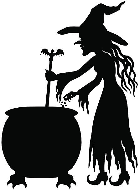 Top 60 Witch Stirring Cauldron Clip Art, Vector Graphics and.