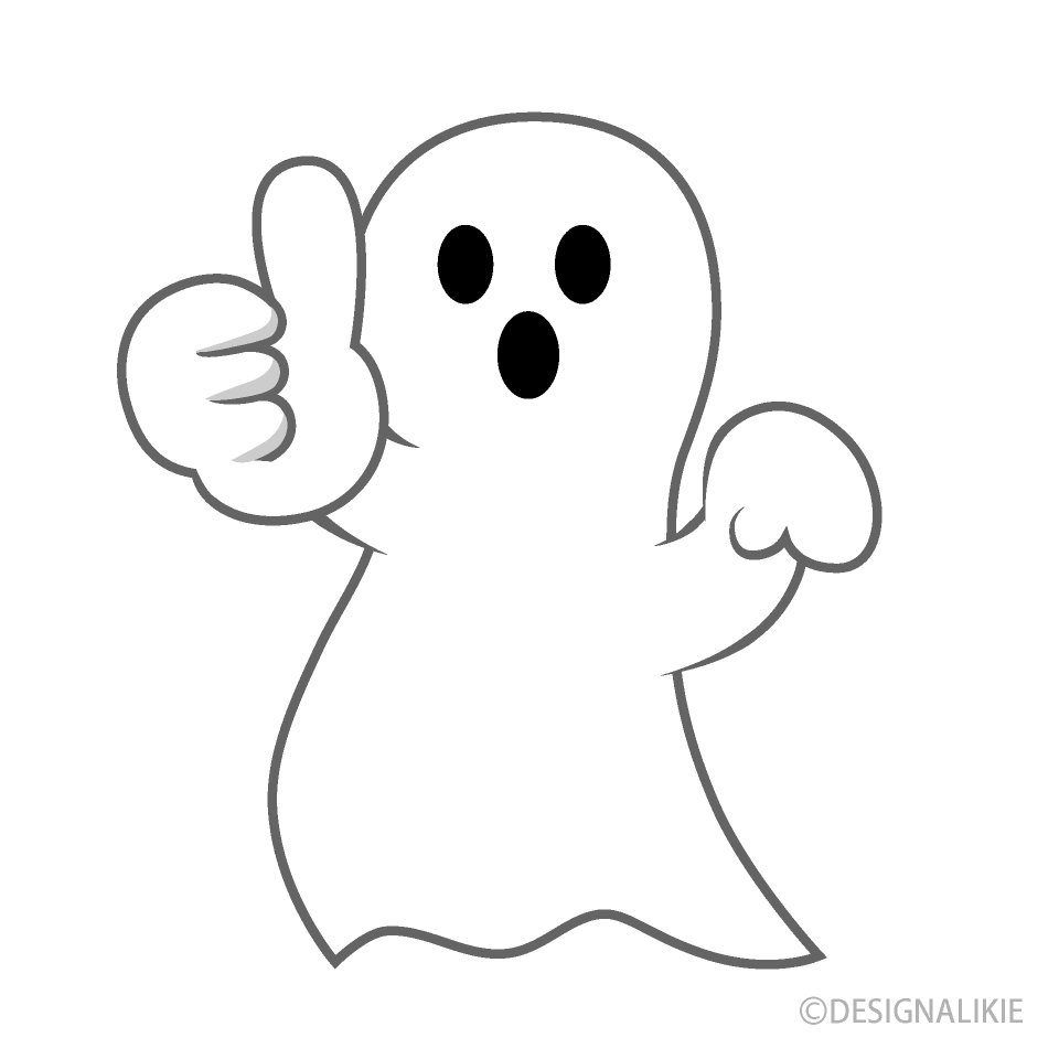 Free Thumbs up Ghost Cartoon Image|Illustoon.