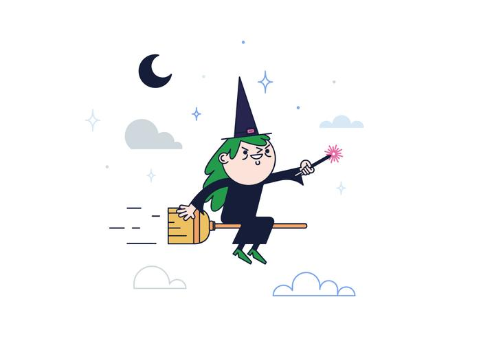 Free Witch Vector.