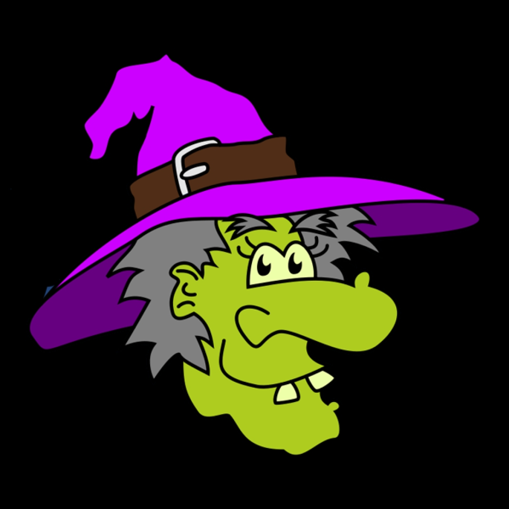 Witch face clip art.