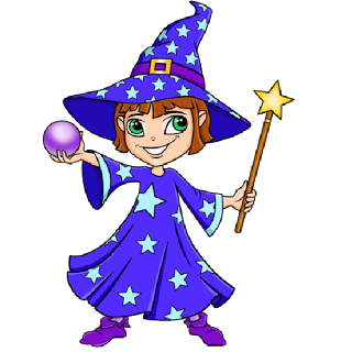 Wizard And Witch Clipart.