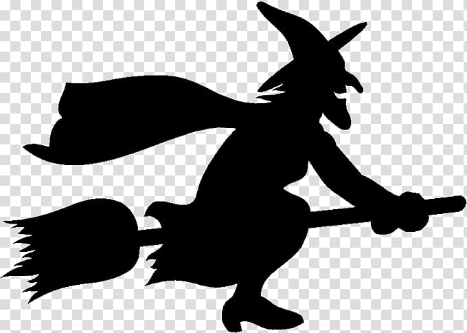 Witch silhouette , Witchcraft Silhouette , Flying Witch.