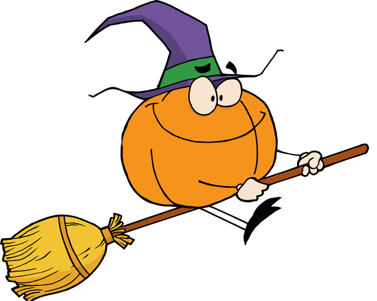 Witch on a broom clipart clipartfest.