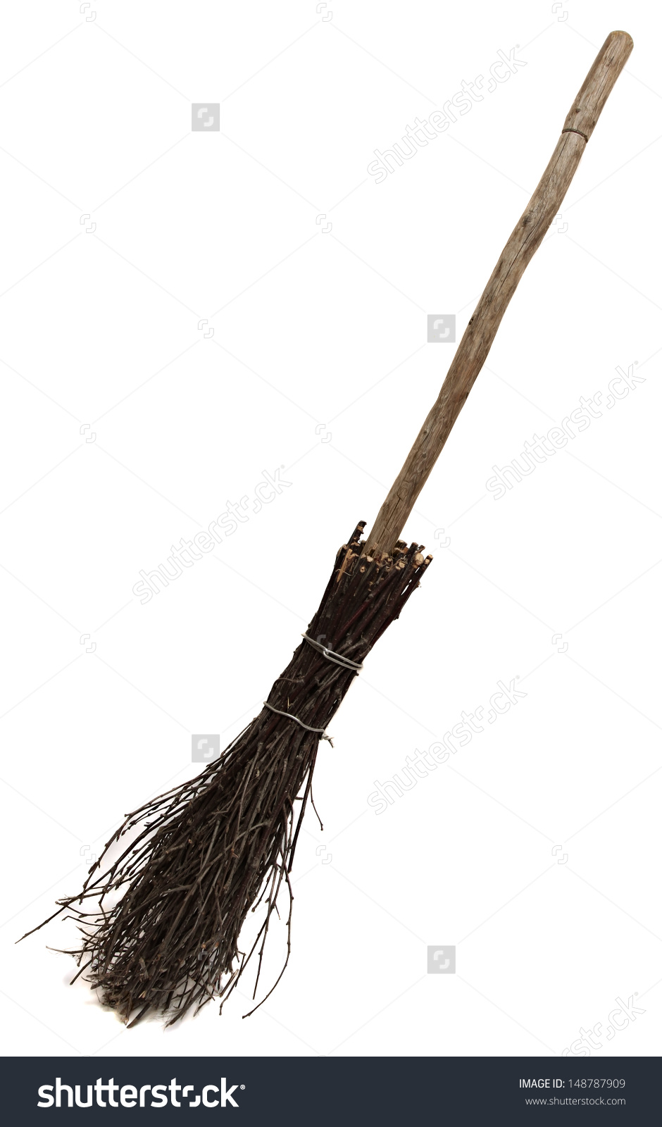 Old Wicked Broom Isolated On White Stock Photo 148787909.