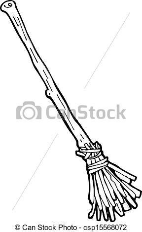 Vectors Illustration of cartoon witch's broom csp15568072.