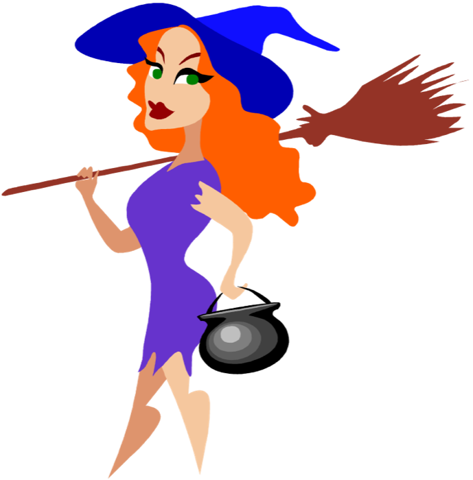 Free Clipart of Halloween Witches.