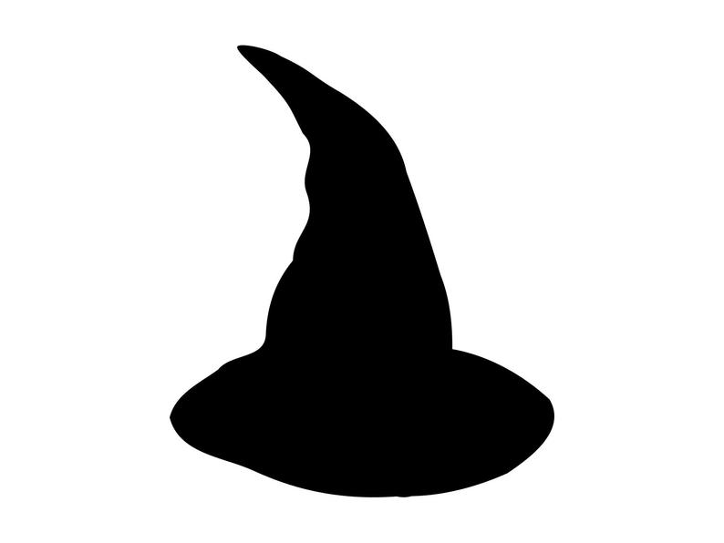 Witch Hat Svg Witch Svg Hat Svg Halloween Svg, File Halloween Cut File Fall  Svg Files For Cutting Clipart Clip Art Silhouette Dxf Png.
