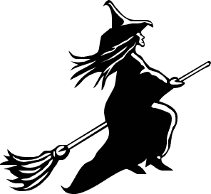 Free Black And White Halloween Clipart.