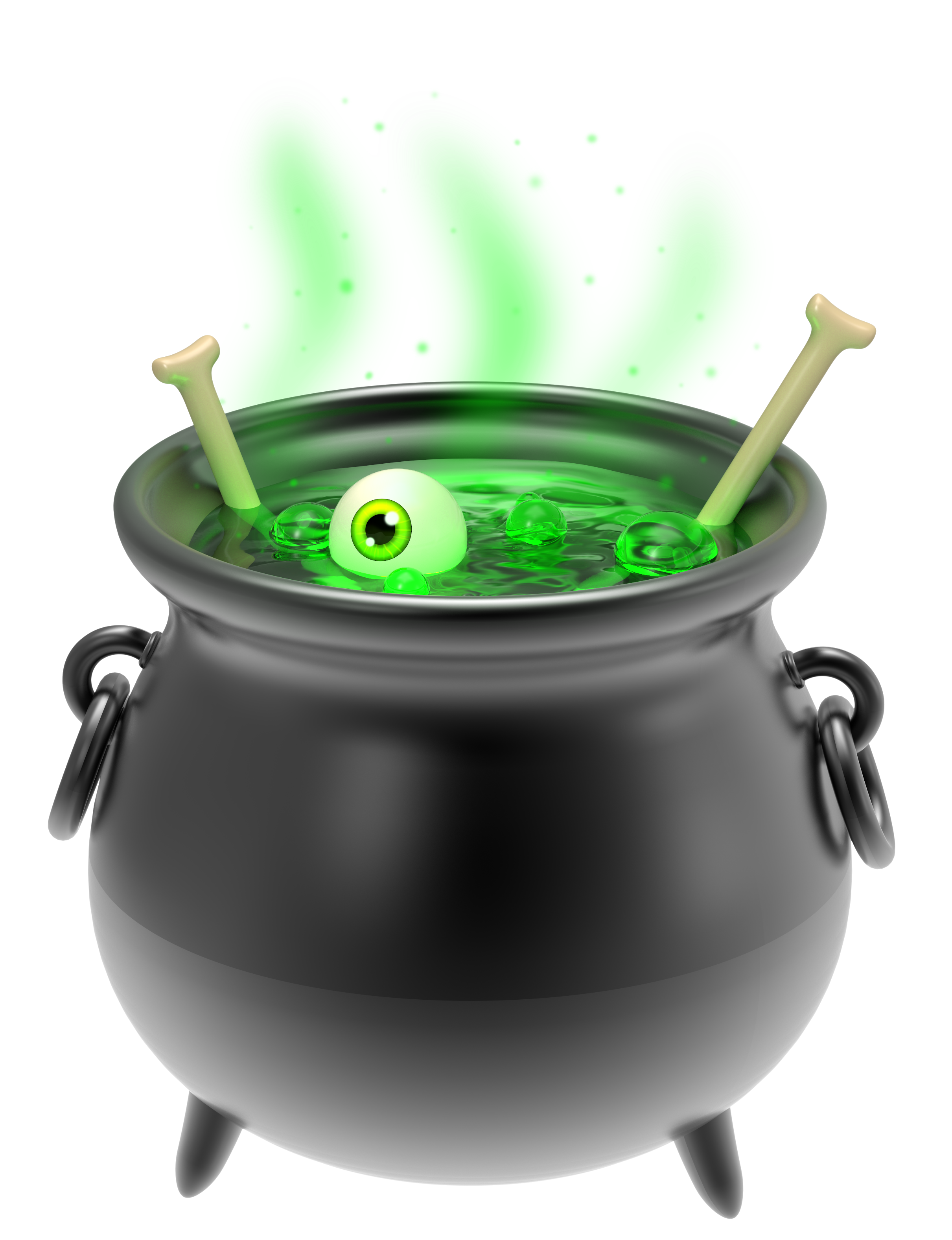 Witch black cauldron clipart image.