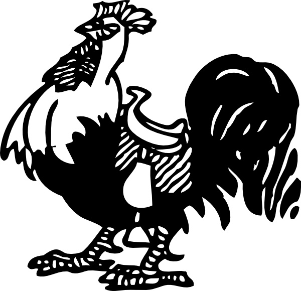 Rooster With A Saddle clip art Free vector in Open office drawing.