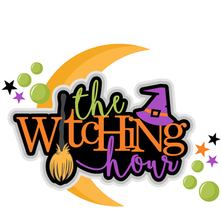 The Witching Hour Title Halloween SVG scrapbook cut file cute.