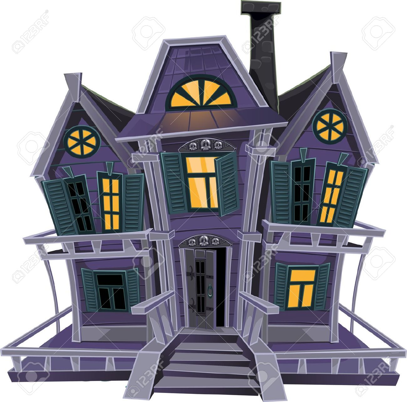 Images of witches house clipart.