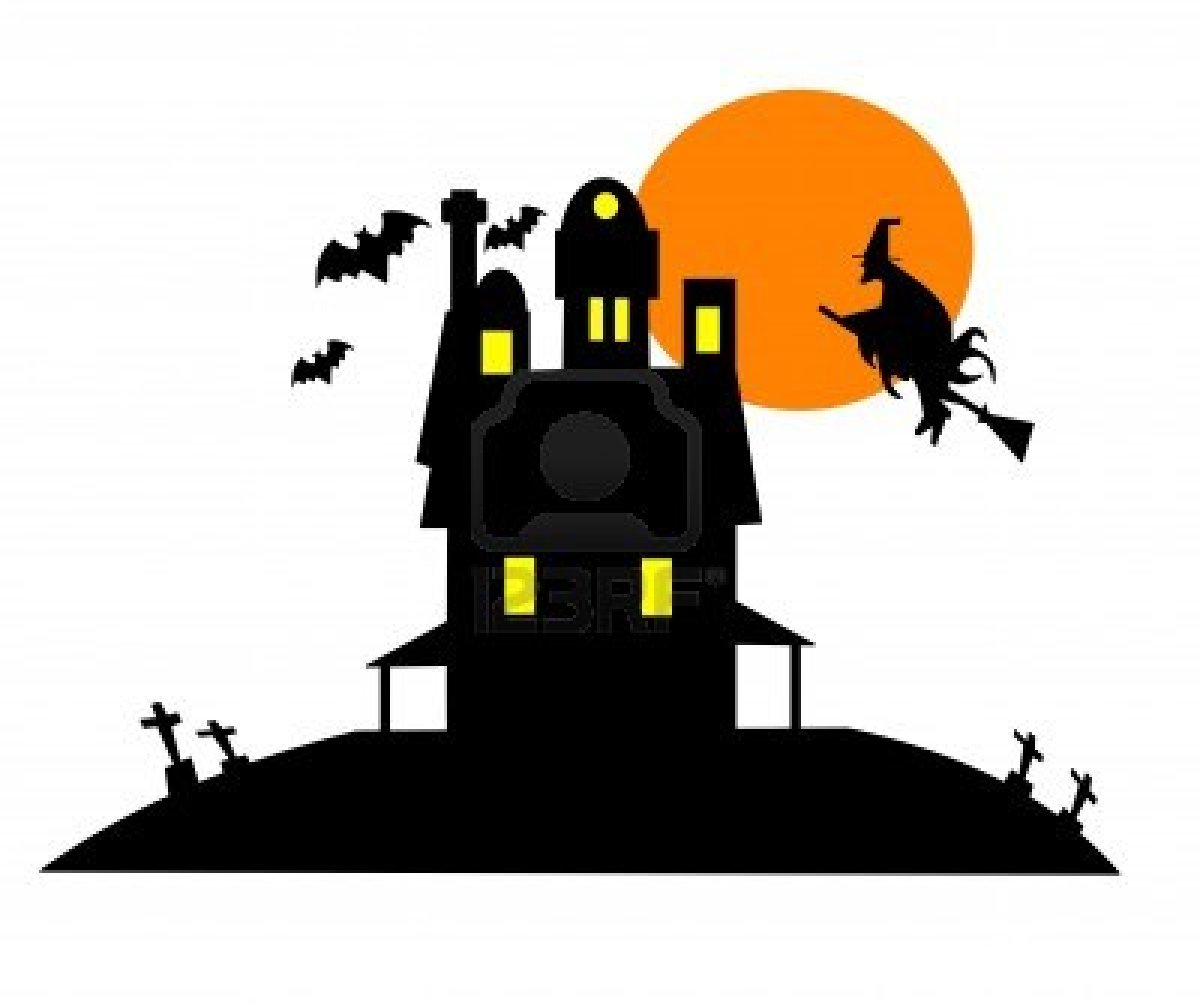 Free clipart witch house.