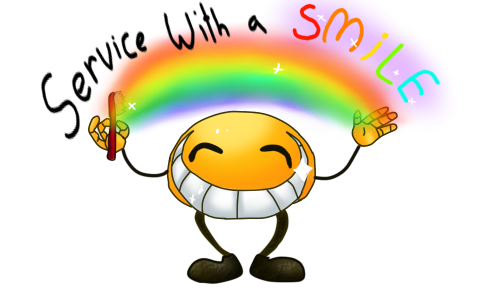 Service With a Smile by geckoZen on DeviantArt.