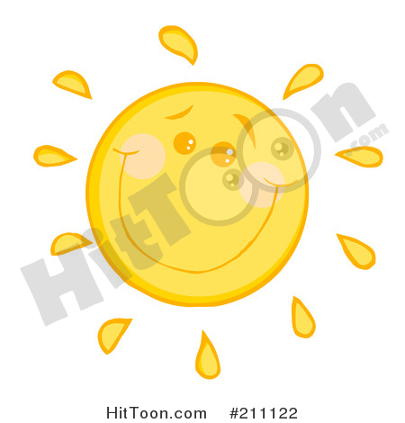 Sun Clipart #211122: Happy Sun with a Smile by Hit Toon.