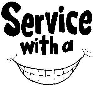 Service With A Smile Clipart.