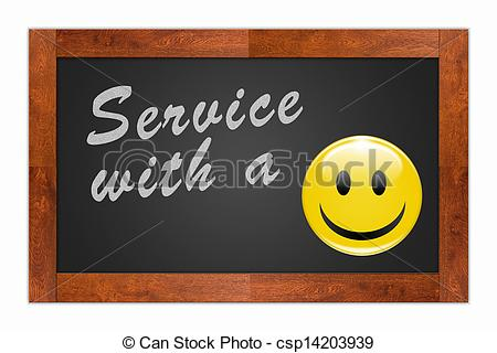Drawings of Service with a Smile.