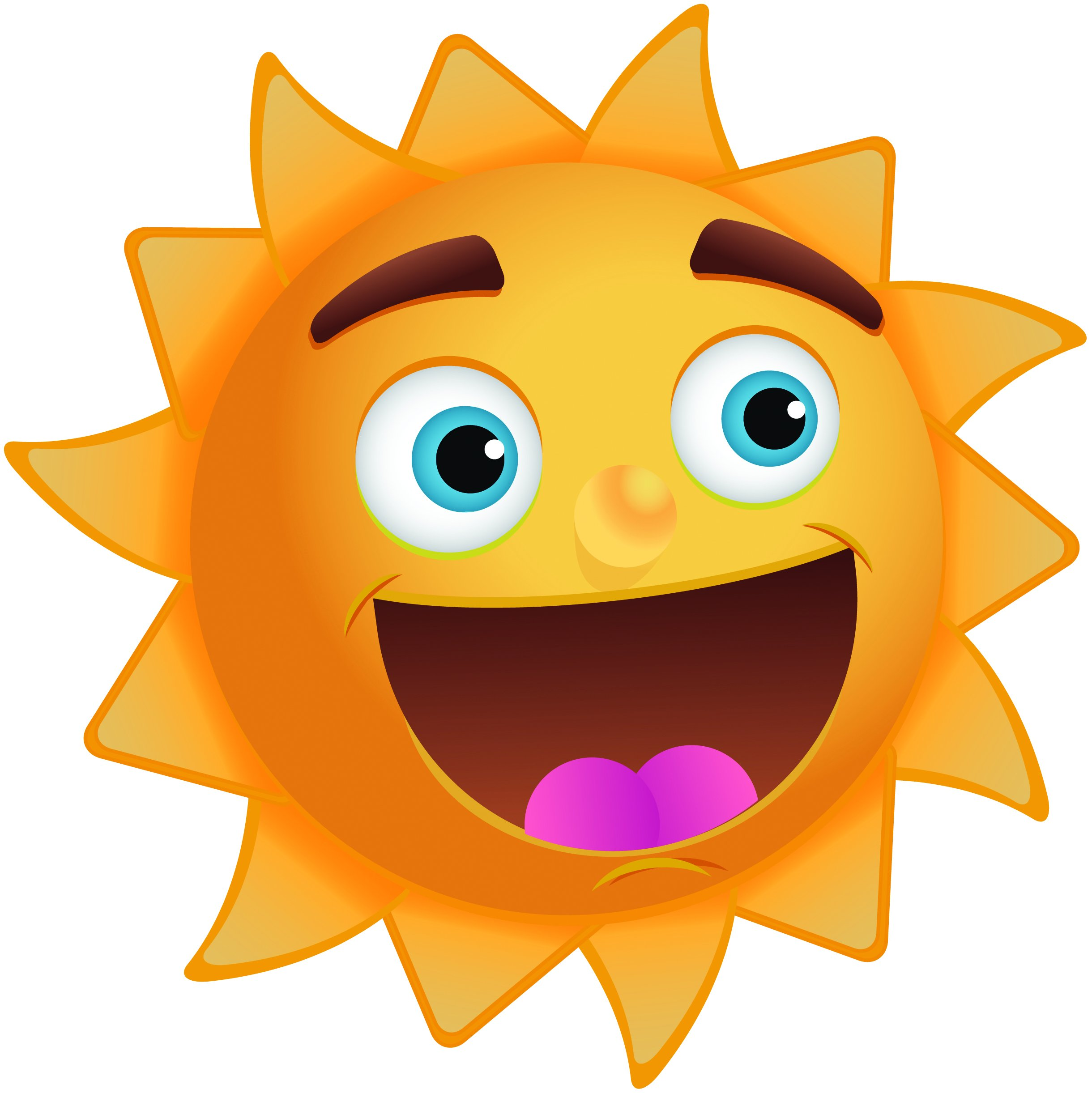 Picture Of A Smiling Sun.