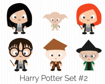 Harry Potter Clipart Fred Weasley George by CozyBearStudio.