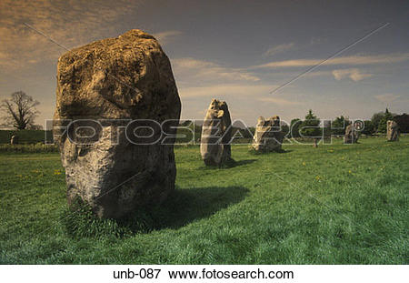 Picture of Stone Circle Avebury Wiltshire UK unb.