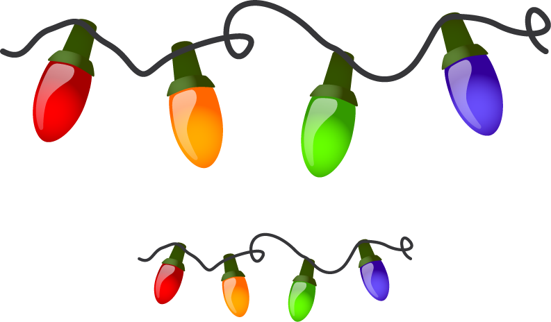 Christmas tree lights clipart clipground christmas lights border clipart sciox Images