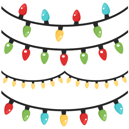 Christmas Lights Banner Clipart.