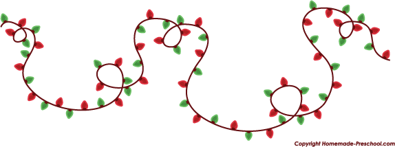 Free Christmas Lights Clipart Pictures.
