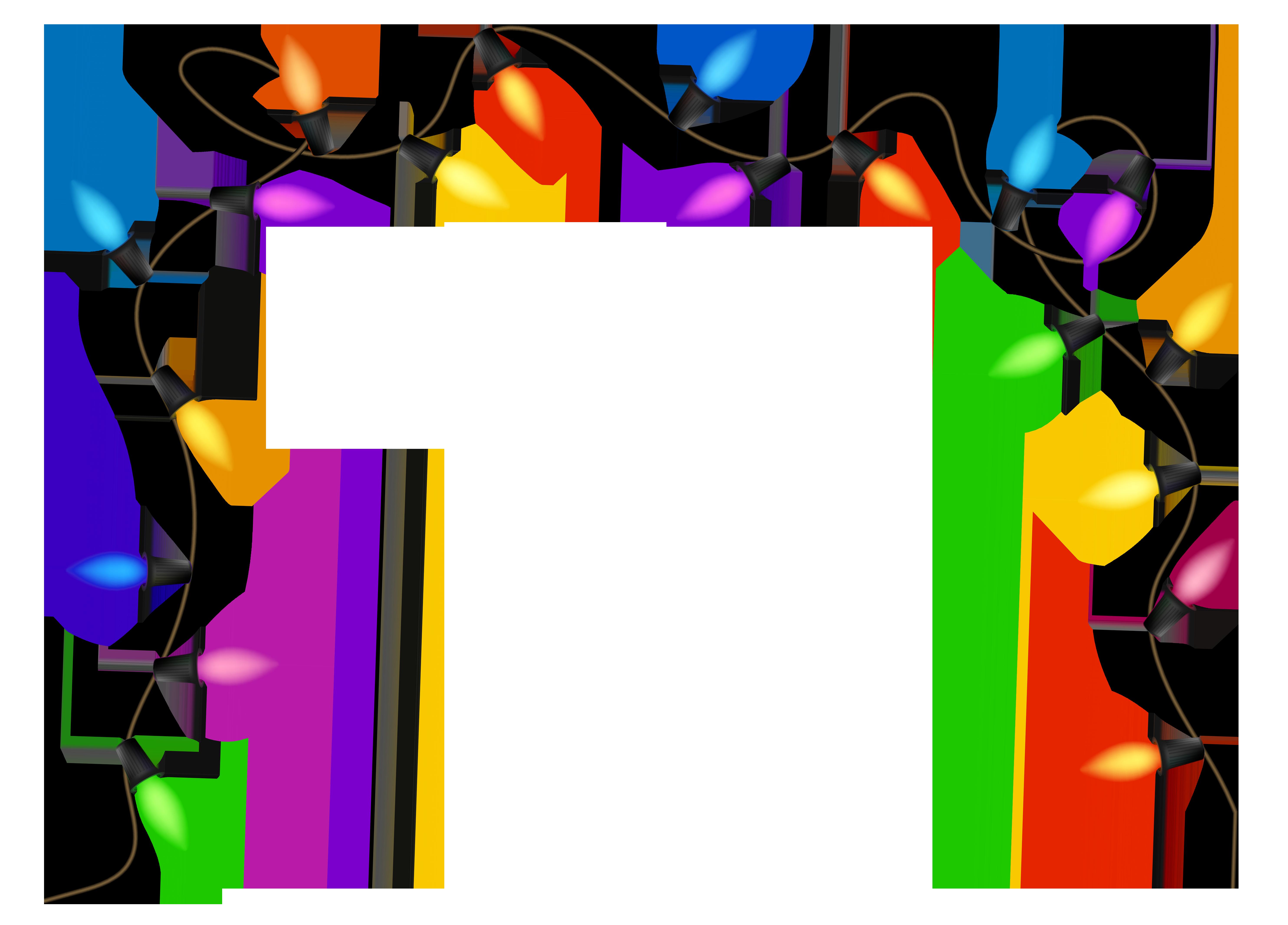 Christmas lights clipart transparent.