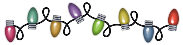 Transparent Christmas Lights PNG Clipart.