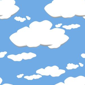 Cartoon clouds clipart.