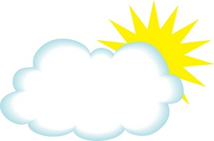 sun with cloud clipart #19