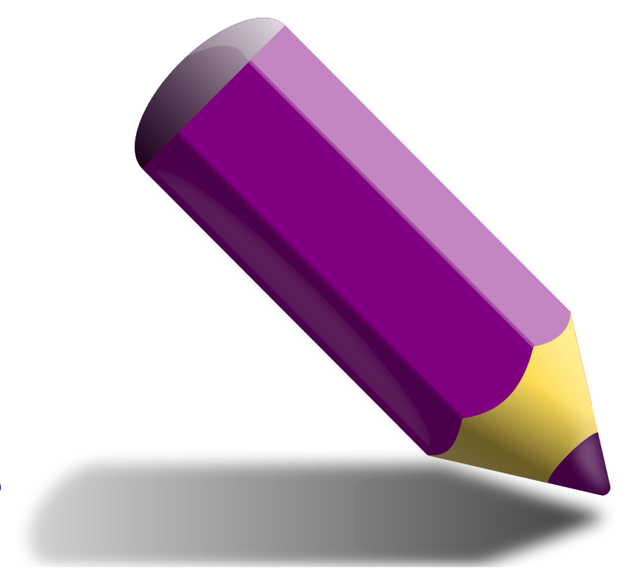 Pencil crayons clipart.