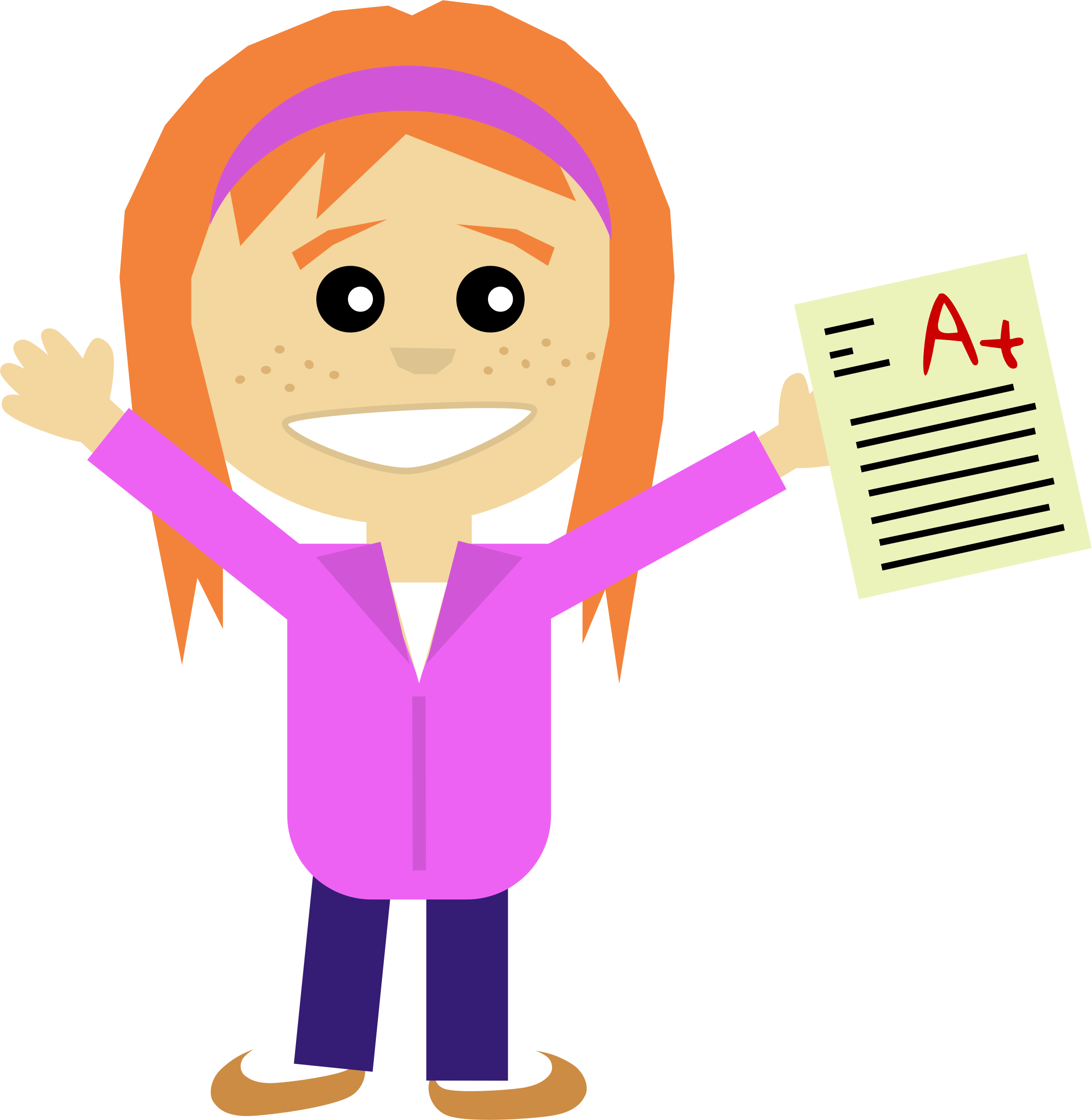 happy student and teacher hugging clipart #11