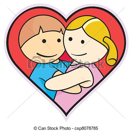 Clipart Vector of lover.