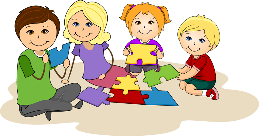 Family helping each other clipart.