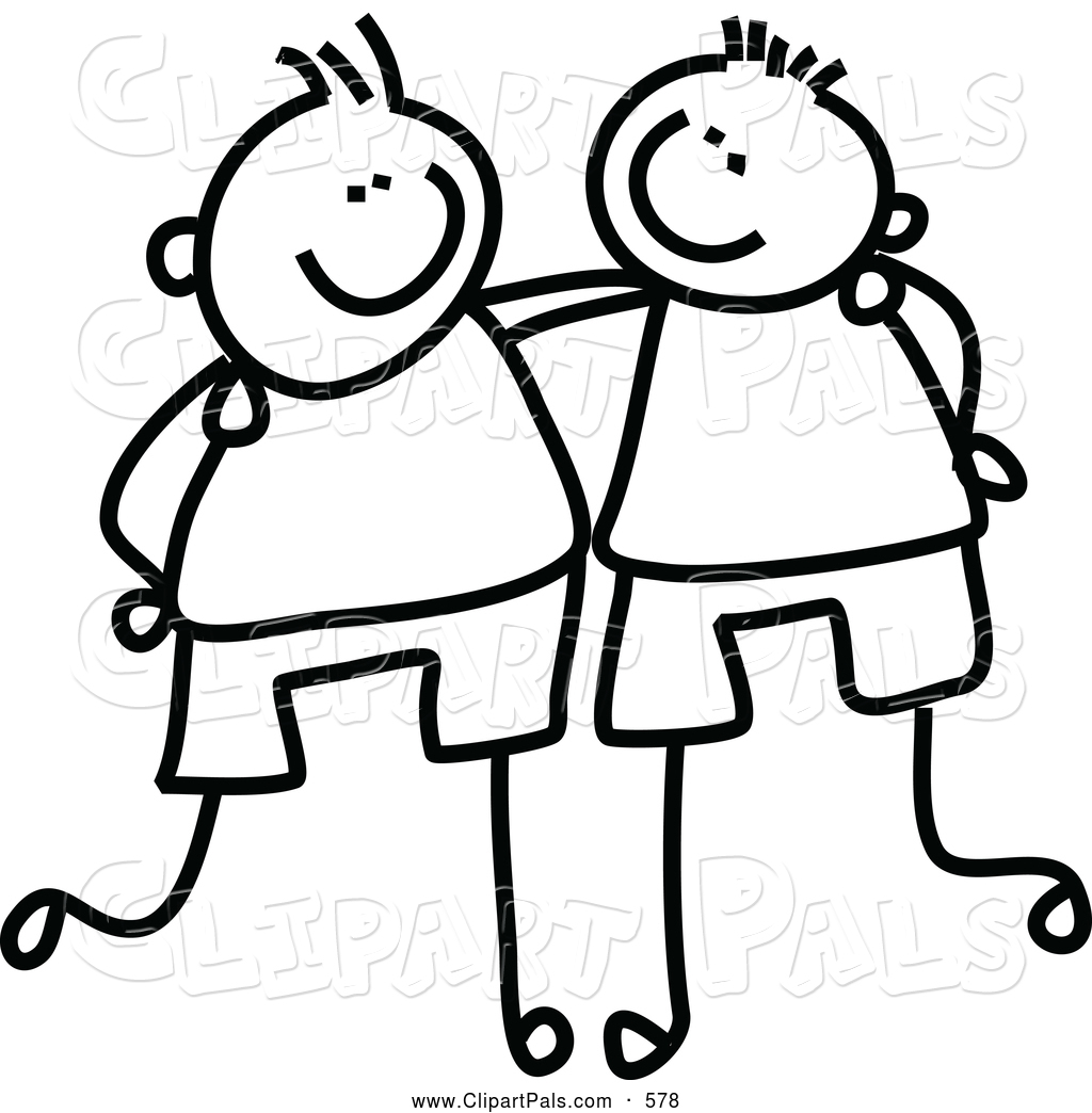 Friends supporting each other clipart.