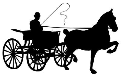 Cart horse clipart #4