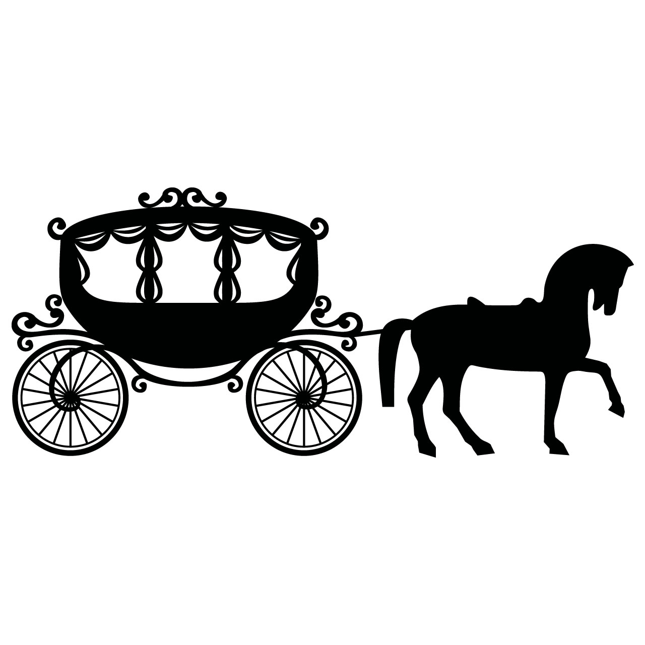 Horse drawn carriage clipart.