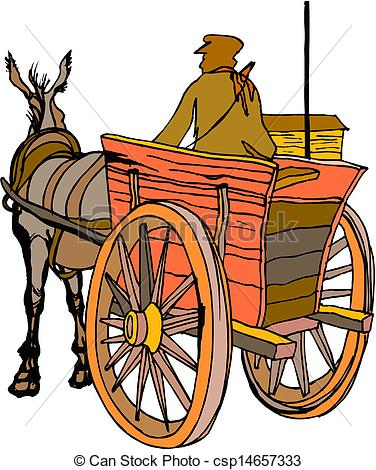 Vectors of Horse carriage.