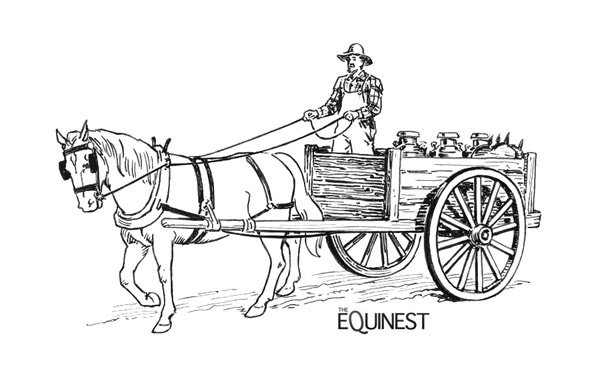 covered wagon coloring page - with horse and wagon clipart clipground
