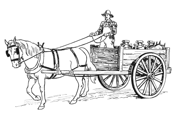 Horse And Wagon Clipart.
