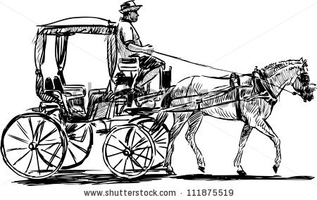 Horse Drawn Carriage Stock Images, Royalty.