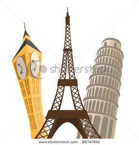Monuments Clip Art Image.