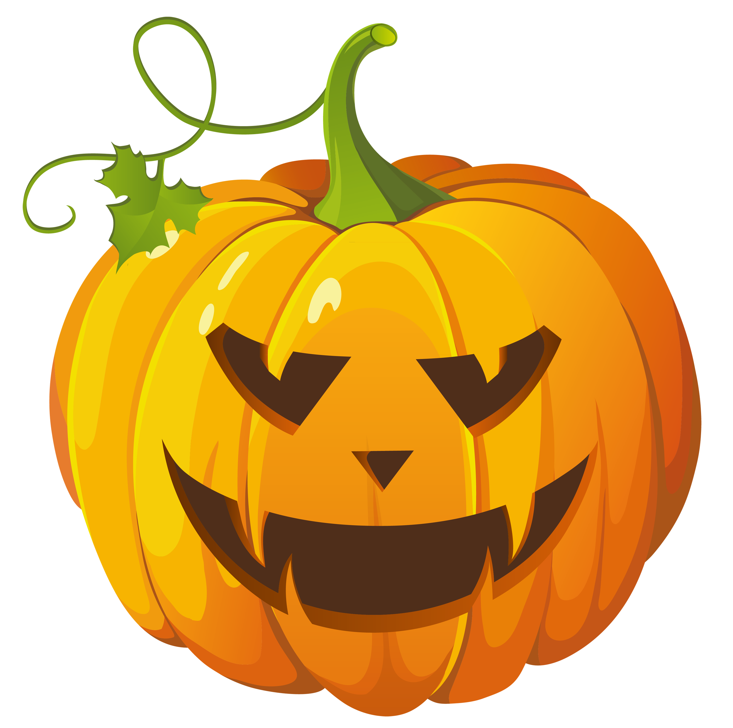Large Transparent Halloween Pumpkin Clipart.
