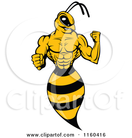 Clipart of a Sexy Female Wasp.