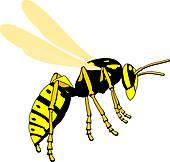Wasp Clip Art Royalty Free Gograph #AR1CoA.