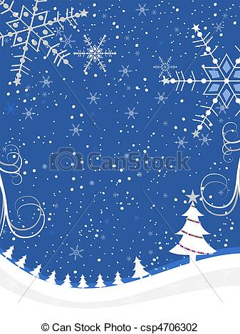 Winter Snow Background Clip Art.