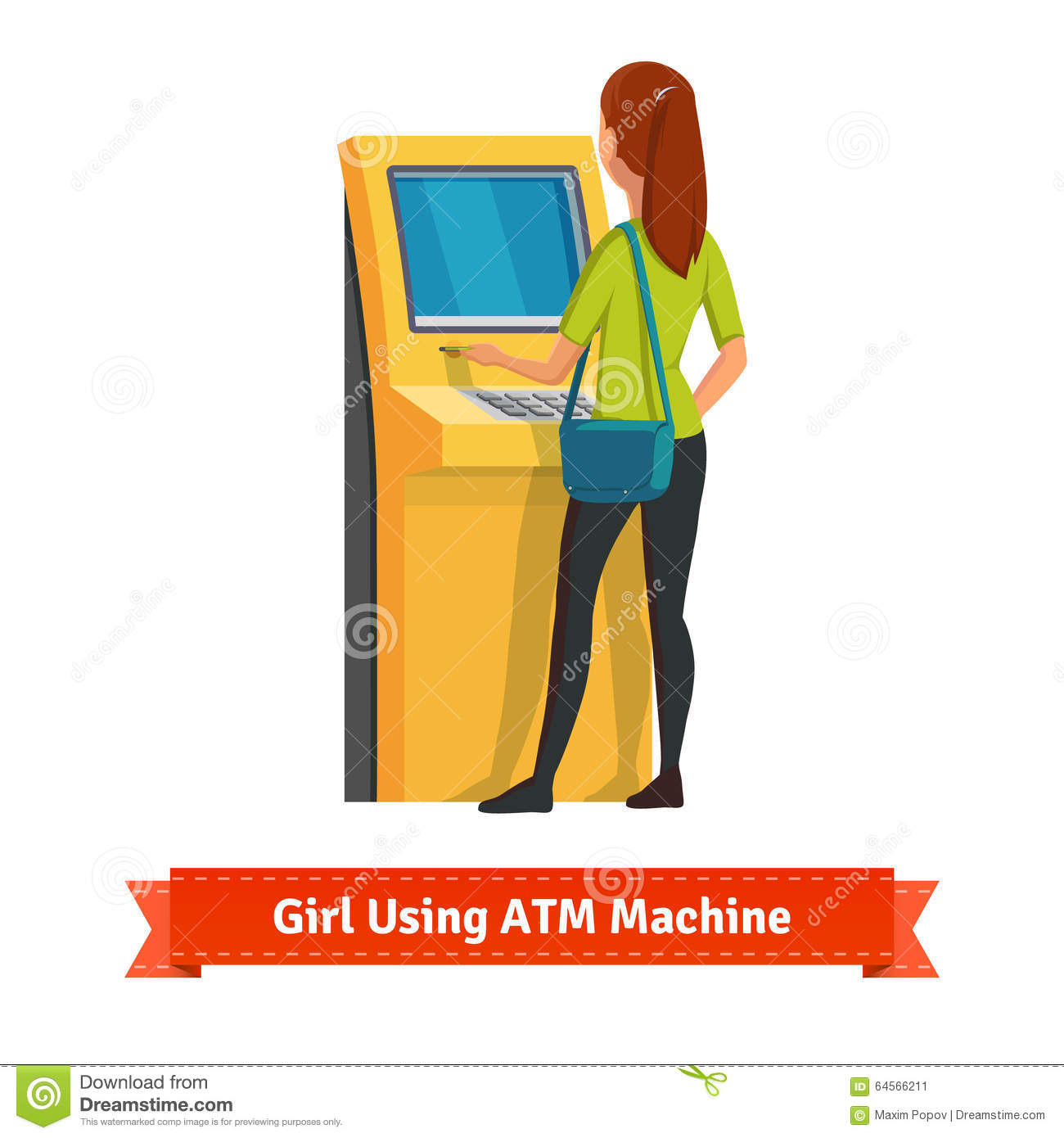 Money Deposit And Withdrawal Stock Vector.