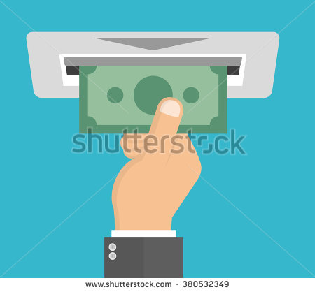 Withdrawal Account Clip Art.